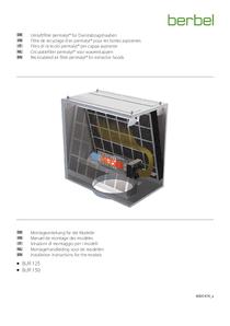 Istruzioni di montaggio per i modelli filtro di ricircolo permalyt® per cappa aspirante in funzionamento aspirante BUR 150