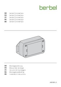 Istruzioni d'uso et di montaggio berbel ConInterface