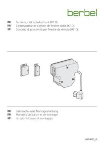 Istruzioni d'uso e di montaggio – Contatto di prossimità per finestre da remoto BKF DL