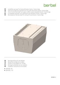 Filtro di ricircolo permalyt® per cappa a soffitto sospesa regolabile Skyline / Skyline Edge