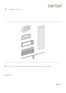 Istruzioni di montaggio – Varianti di installazione aspiratore per piano di cottura berbel Downline Set griglia di scarico aria