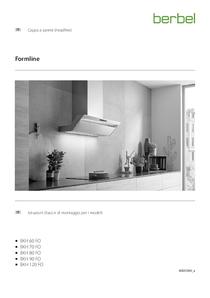 Cappa a parete (headfree) istruzioni di montaggio e d'uso per i modelli Formline BKH FO